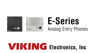 Viking E-Series Analog Entry Phones