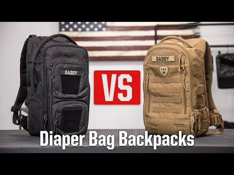 Tactical Diaper Bag Backpack Side-by-Side Comparison