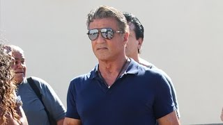 Action Star Sylvester Stallone Makes Time For Fans