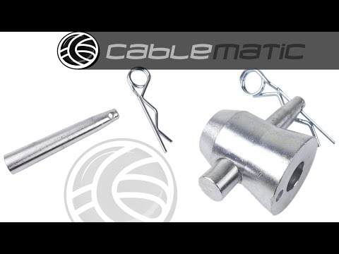 Accesorio para truss spigot de 50x3 mm pasador con clip-R distribuido por CABLEMATIC ®