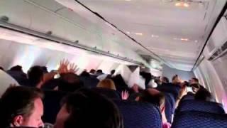 In-Flight Pillow Fight @ 35K feet!