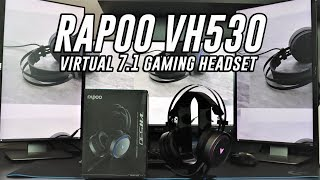 RAPOO VH530 7.1 gaming headset - review and mic test
