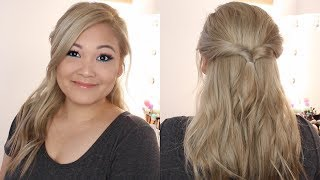 The Easiest Half Up Half Down Hairstyle Ever!!!