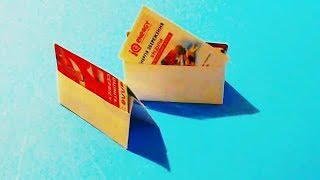 Оригами визитница лайфхак. Делаем визитницу из бумаги своими руками.