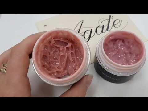 Agate Fix Roze gel 58g (50ml)- cover  , thixotropic , high viscouse , gera pigmentacija Video #1