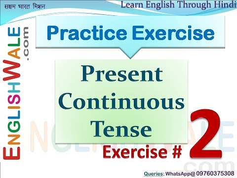 mp4 Exercises On Present Continuous Tense, download Exercises On Present Continuous Tense video klip Exercises On Present Continuous Tense