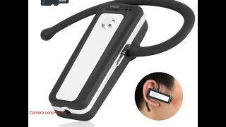8GB HD Wearable Mini Spy Camera Bluetooth Earphone (Model Number: BT200)