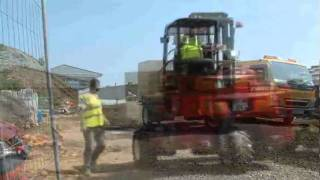 Operating A Moffett Truck Mounted Forklift On Site