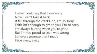 Cinder Road - I'm So Sorry Lyrics