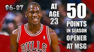 Michael Jordan Highlights vs Knicks (1986.11.01) - DROP 50PTS in season opener at MSG!