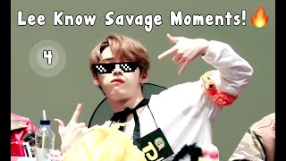 Stray Kids - LeeKnow savage moments 4