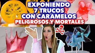 EXPONIENDO 7 TRUCOS CON CARAMELOS PELIGROSOS Y MORTALES.