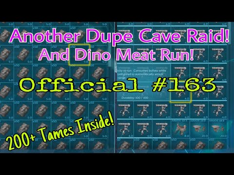 Ark Official PvP Server 41 RAIDING MEGA TRIBE FACTION DUPING CAVE