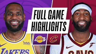 LAKERS at CAVALIERS | FULL GAME HIGHLIGHTS | January 25, 2021