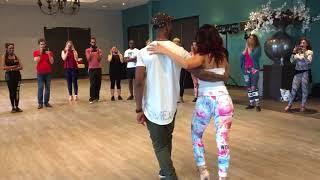 Mike Evens & Macarena Paton dancing Urban Kiz with Spins at Dutch Kizomba Festival 2018 (Tiel)