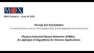 MOX Colloquia – George Em Karniadakis – 26/06/2020