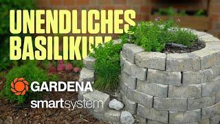 Vollautomatische Kräuterspirale mit Gardena Microdrip-System