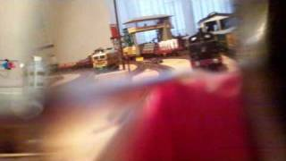 A ride on my dad's model train