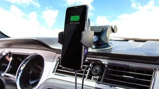 ChargeHub Auto Phone Mount & Wireless Charger with 2-Port USB Charger