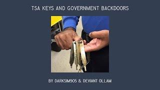 TSA keys & Government Backdoors