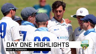 Tasmania hold firm against Blues on opening day | Marsh Sheffield Shield 2019-20