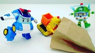 Робокар Поли и его друзья #Машинки! Машинки для детей! Про Робокар Поли и загадочный пакет с едой!