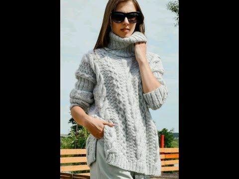 Женские Свитера, Вязаные Спицами - 2019 / Women's Knit Sweaters / Damen Strickpullover
