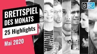 Brettspiel des Monats - Die Highlights von 23 Gästen im Mai 2020