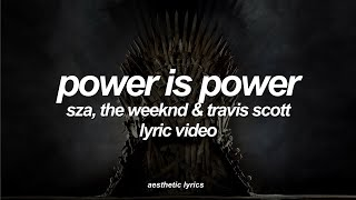 SZA, The Weeknd & Travis Scott   Power Is Power (Lyric Video)