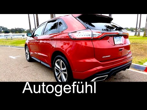 2016 Ford Edge Sport Exterior Interior Driving shots & Assistances Systems - Autogefühl