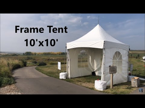 First Time Installing 10'x10' Marquee Frame Tents