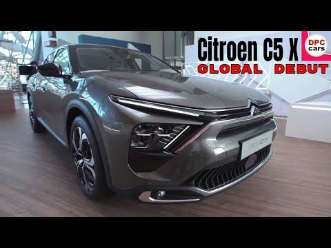 世界初公開となる新型シトロエンC5 X を動画で詳細に紹介。