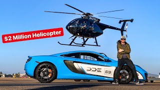 THEY SAY YOU CANT OUTRUN A HELICOPTER?! MAYBE IN A SUPERCAR...