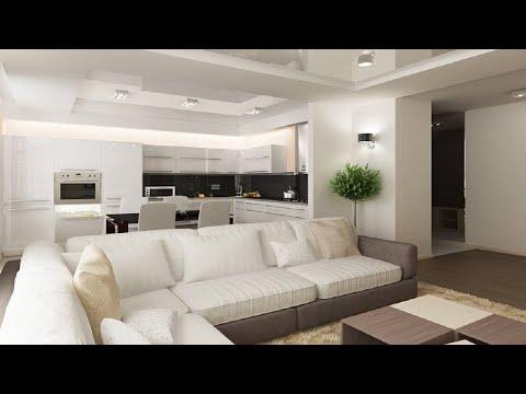ГОСТИНАЯ С КУХНЕЙ   Варианты современного дизайна гостиной с кухней