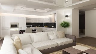 ГОСТИНАЯ С КУХНЕЙ | Варианты современного дизайна гостиной с кухней