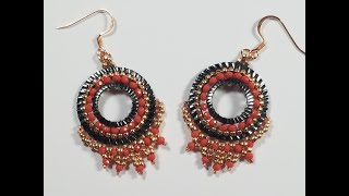 Concentric Coral Earring Tutorial