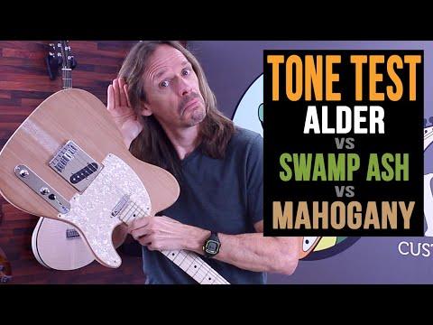Alder vs Swamp Ash vs Mahogany - Guitar Body Wood Tone Test