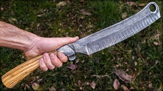 """Finishing The """"Slavic Razor"""" forged by MAN AT ARMS"""