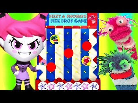 Fizzy & Phoebe Play the Teen Titans GO Disk Drop Game