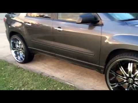 First 2014 gmc acadia on 26s