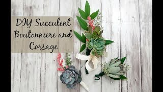 DIY Succulent Boutonniere And Corsage  (Succulents For Weddings)