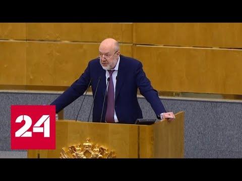 Госдума приняла законопроект о поправке в Конституцию - Россия 24