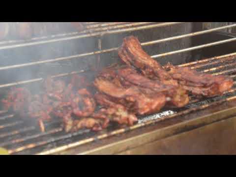 Grilling pork video