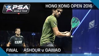 Squash: Hong Kong Open 2016 - Gawad v Ashour - Final Highlights