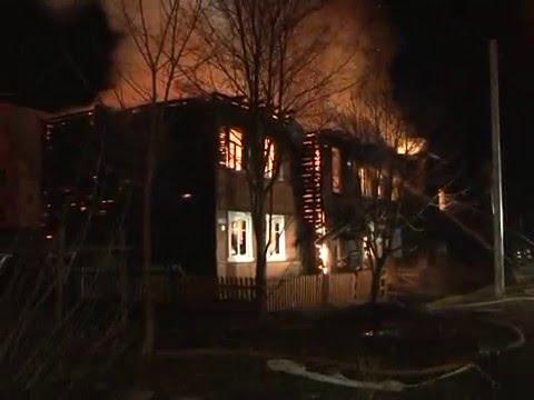 Видео: пожар в посёлке Пролетарий
