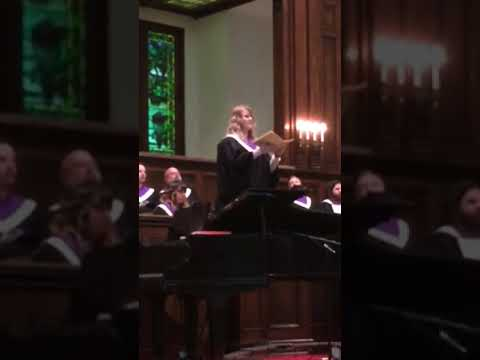 "Me performing ""Pie Jesu"" at East Dallas Christian Church"