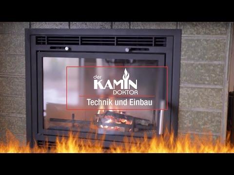 Technik und Einbau - Kaminkassette zum Nachrüsten offener Kamine