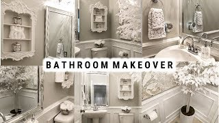 DIY Small Bathroom Makeover | Glamorous Ideas On A Budget | Before And After