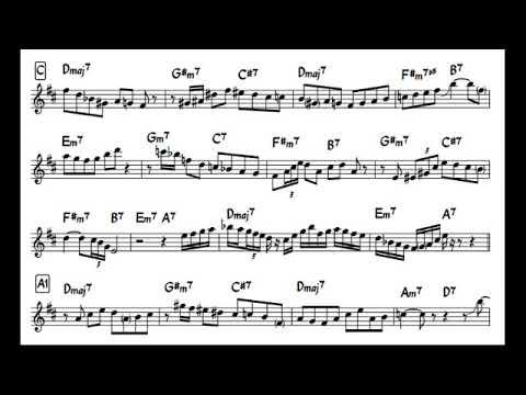 Charlie Parker - I Remember You solo transcription