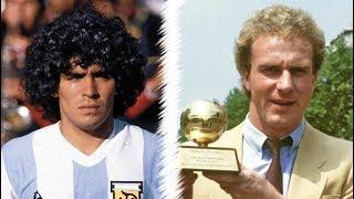 The Red Baron! ☆ Diego Maradona Vs Karl-Heinz Rummenigge 720p